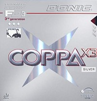 Donic Coppa X3 Silver ping pong