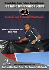 Dynamic Table Tennis Forehand Loop Training ping pong