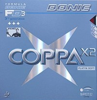 Donic Coppa X2 Platin Soft Rubber